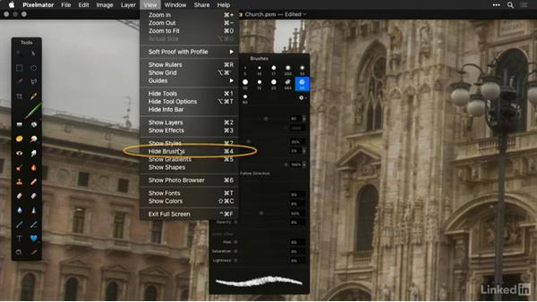 Navigate the work area and zooming: Learning Pixelmator