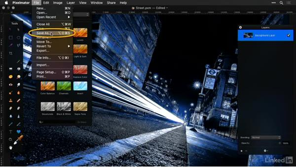 Save your work and understanding file formats: Learning Pixelmator