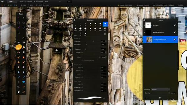 Select and modify a tool: Learning Pixelmator