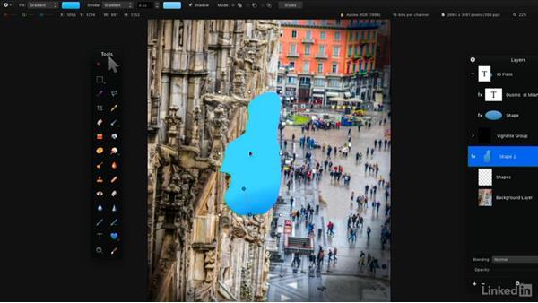 Shape tools: Learning Pixelmator