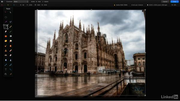 Crop an image: Learning Pixelmator