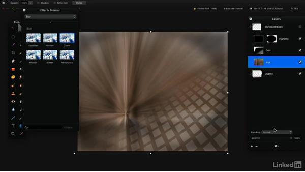 Transform or blend layers: Learning Pixelmator