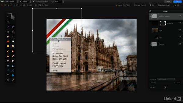 Warp or distort layers: Learning Pixelmator