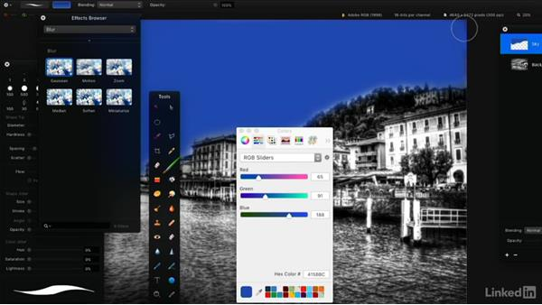 Paint with Pencil, Brush, or Pixel tools: Learning Pixelmator