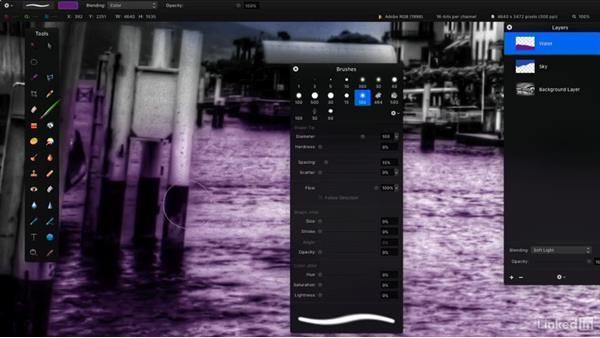 Erase with the Eraser tool: Learning Pixelmator