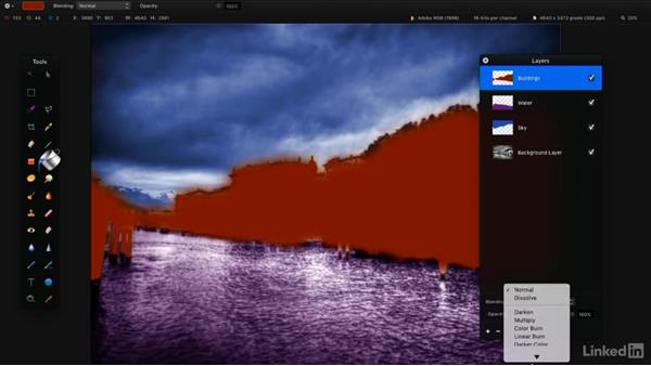 Fill with the Paint Bucket tool: Learning Pixelmator