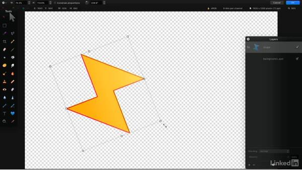 Transform shapes: Learning Pixelmator