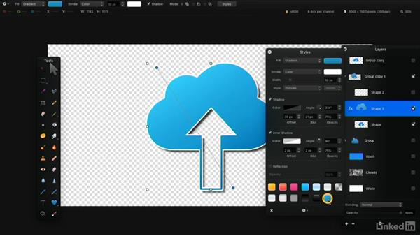 Create custom shapes: Learning Pixelmator