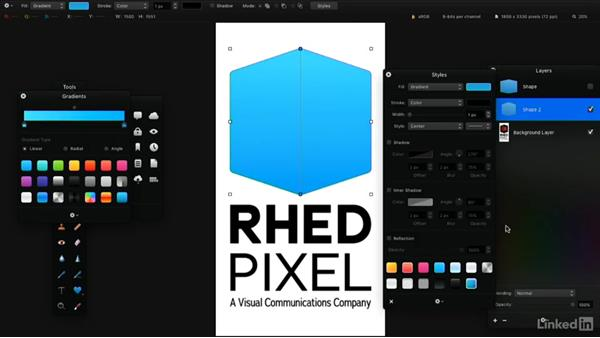 Create shapes from selections: Learning Pixelmator