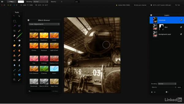 Adjust color and exposure: Learning Pixelmator