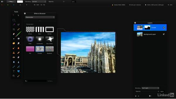 Generate objects or patterns: Learning Pixelmator