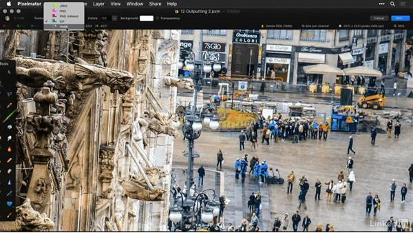 Save for the web and use slices: Learning Pixelmator