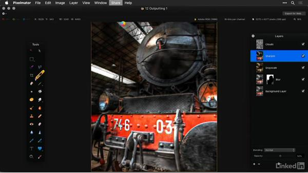 Share to social media sites: Learning Pixelmator