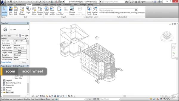 Linking other models: Revit 2017: Essential Training for MEP (Imperial)