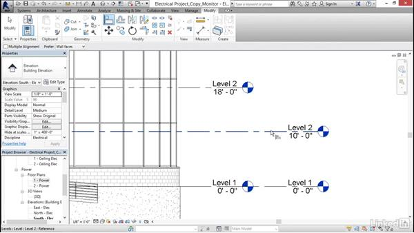 Copying levels and setting up monitoring: Revit 2017: Essential Training for MEP (Imperial)