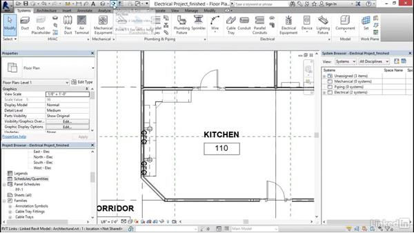 Solution: Electrical: Revit 2017: Essential Training for MEP (Imperial)