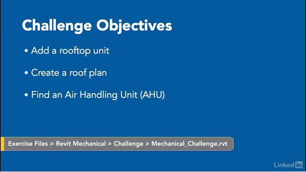 Challenge: Mechanical: Revit 2017: Essential Training for MEP (Imperial)