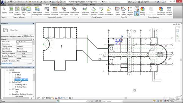 Creating a plumbing view: Revit 2017: Essential Training for MEP (Imperial)