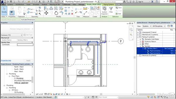 Looking at the System Browser: Revit 2017: Essential Training for MEP (Imperial)