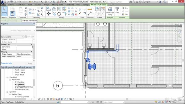 Modeling mains: Revit 2017: Essential Training for MEP (Imperial)