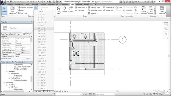 Tagging items: Revit 2017: Essential Training for MEP (Imperial)