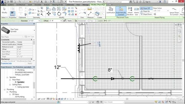 Adding specialty items: Revit 2017: Essential Training for MEP (Imperial)