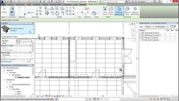 Creating a fire alarm circuit: Revit 2017: Essential Training for MEP (Imperial)