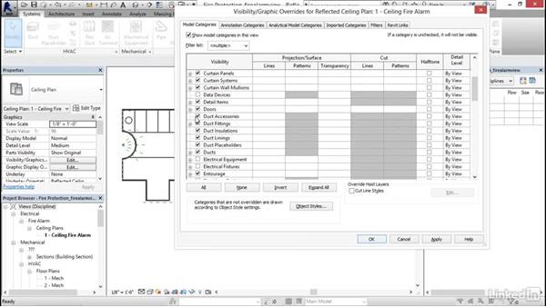 Creating a fire alarm view: Revit 2017: Essential Training for MEP (Imperial)