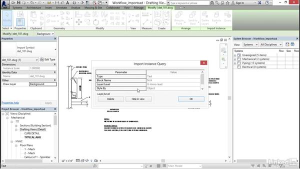 Importing CAD: Revit 2017: Essential Training for MEP (Imperial)