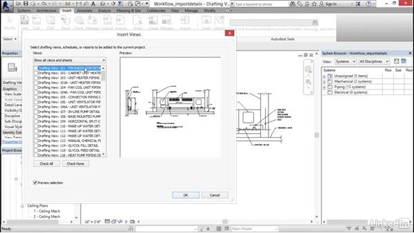 Importing details: Revit 2017: Essential Training for MEP (Imperial)