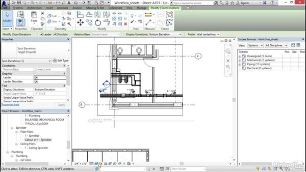 Creating sheets: Revit 2017: Essential Training for MEP (Imperial)