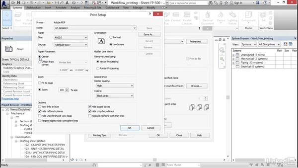 Printing sheets: Revit 2017: Essential Training for MEP (Imperial)