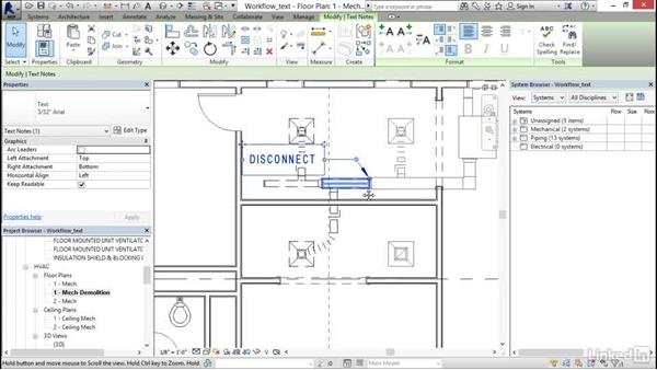 Working with text: Revit 2017: Essential Training for MEP (Imperial)