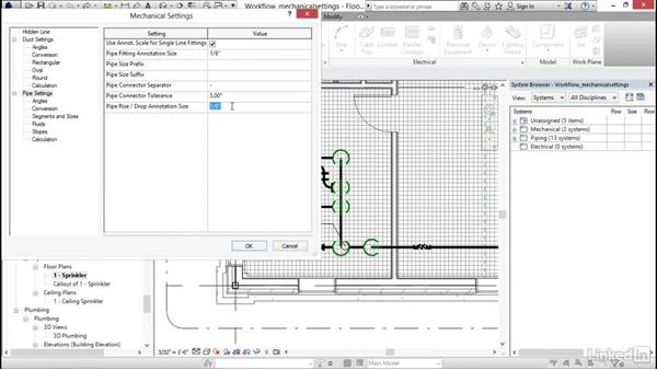 Looking at mechanical settings: Revit 2017: Essential Training for MEP (Imperial)