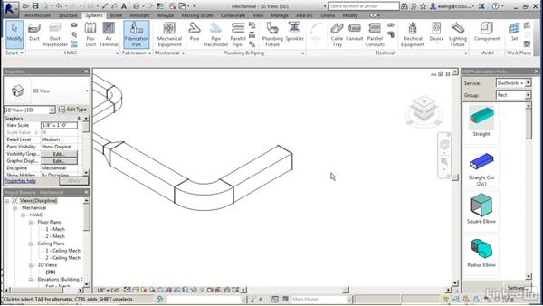 Designing and optimizing to fabrication: Revit 2017: Essential Training for MEP (Imperial)