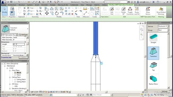 Modeling fabrication parts: Revit 2017: Essential Training for MEP (Imperial)
