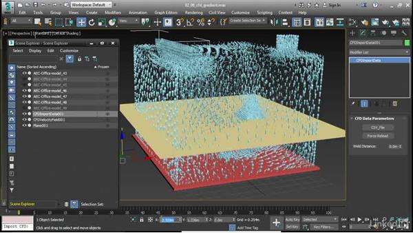 Visualizing CFD as a gradient: 3ds Max 2017 New Features