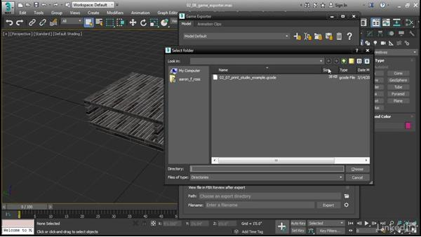 Saving a model with Game Exporter: 3ds Max 2017 New Features