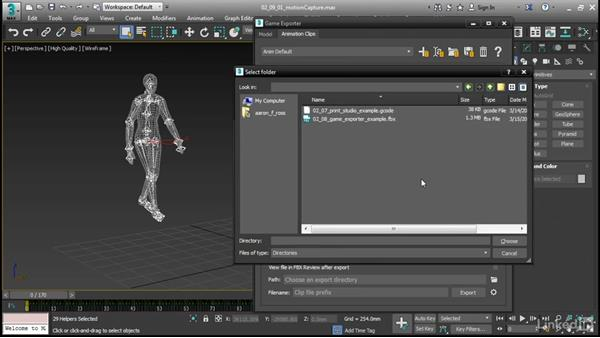 Saving animation with Game Exporter: 3ds Max 2017 New Features