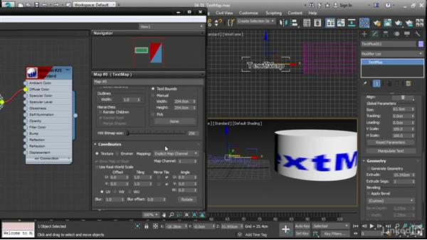 Applying vector text decals with TextMap: 3ds Max 2017 New Features