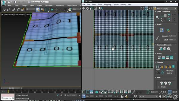 Editing UVs with Unwrap UVW brushes: 3ds Max 2017 New Features