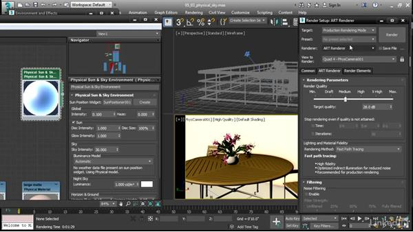 Adjust ART Physical Sun and Sky: 3ds Max 2017 New Features