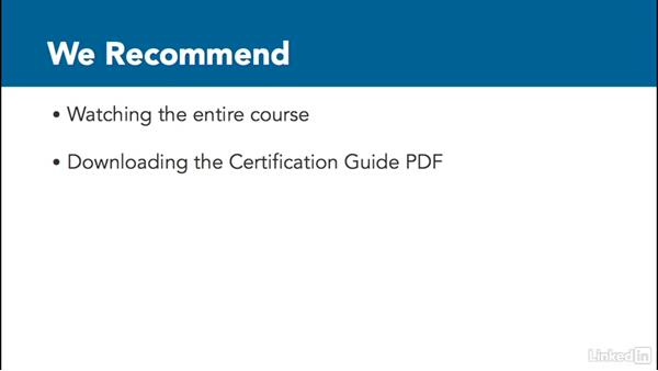 Preparing for a certification exam: Revit 2017: Essential Training for Architecture (Imperial)