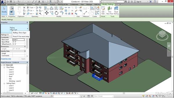 Understanding context ribbons: Revit 2017: Essential Training for Architecture (Imperial)