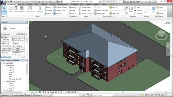 Using keyboard shortcuts in Revit: Revit 2017: Essential Training for Architecture (Imperial)