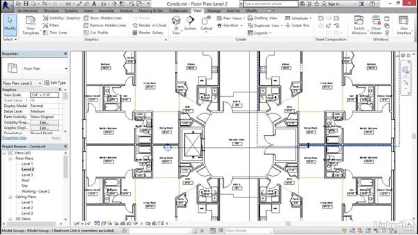 Navigating views (zoom, pan, and rotate): Revit 2017: Essential Training for Architecture (Imperial)