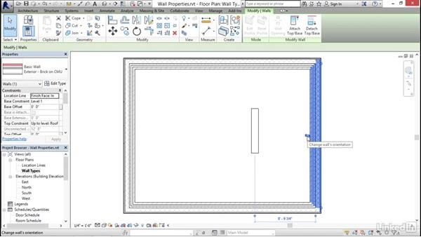 Wall properties and types: Revit 2017: Essential Training for Architecture (Imperial)
