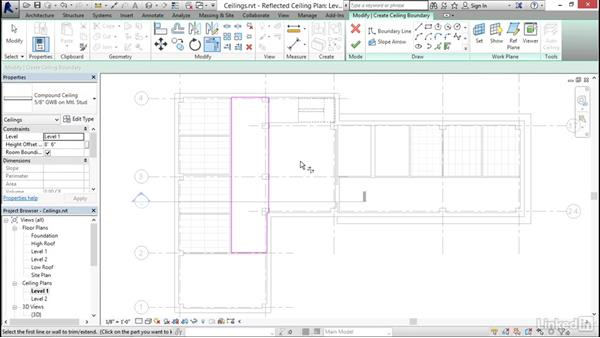 Working with ceilings: Revit 2017: Essential Training for Architecture (Imperial)
