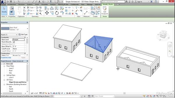 Working with slope arrows: Revit 2017: Essential Training for Architecture (Imperial)