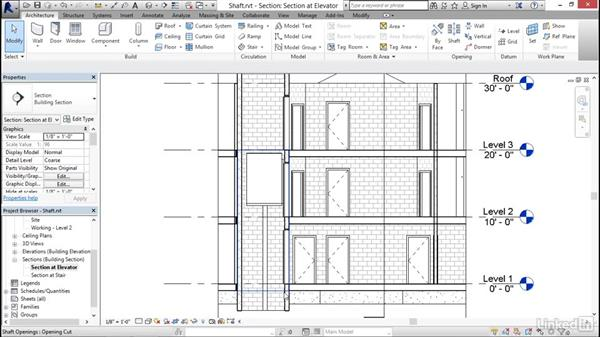 Adding openings: Revit 2017: Essential Training for Architecture (Imperial)